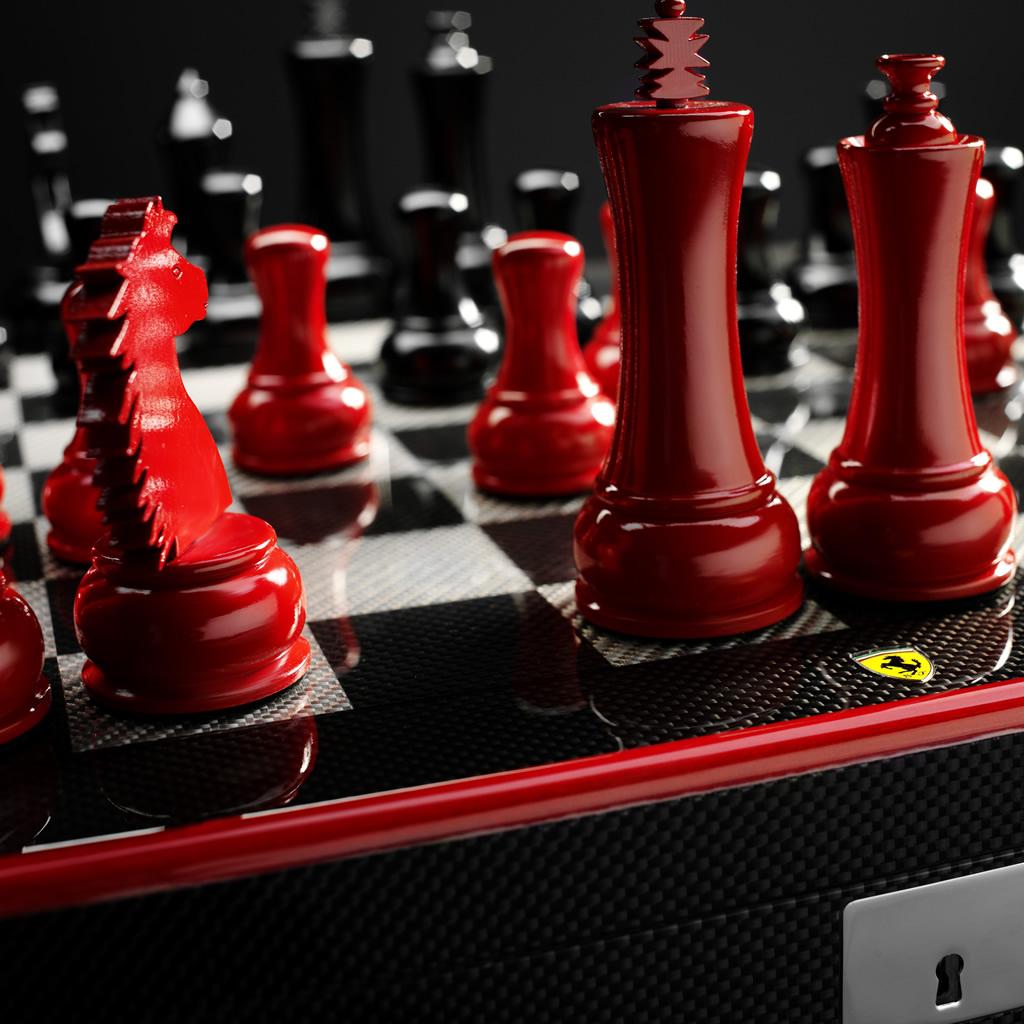 Set de Xadrez Ferrari: jogue a emoção de uma lenda